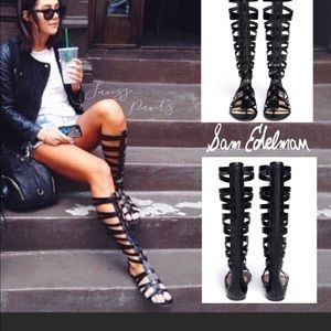 Sam Edelman Bryant Tall Gladiator Sandals Black 7